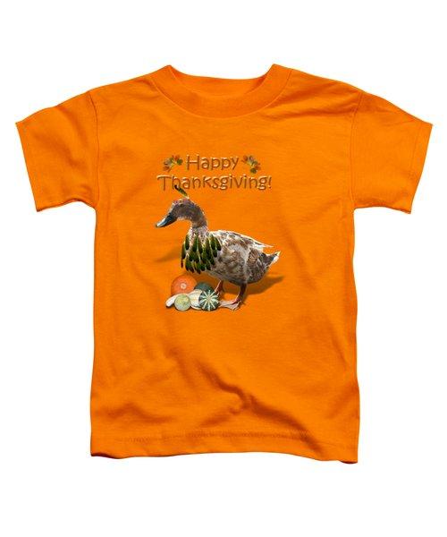 Thanksgiving Indian Duck Toddler T-Shirt