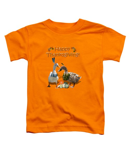 Thanksgiving Indian Ducks Toddler T-Shirt by Gravityx9  Designs