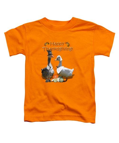 Thanksgiving Pilgrim Ducks Toddler T-Shirt