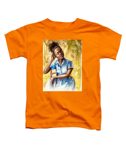 The Girl With The Blue Dress Toddler T-Shirt