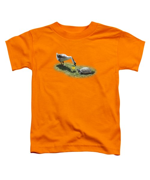 The Goose And The Turtle Toddler T-Shirt by Gravityx9   Designs