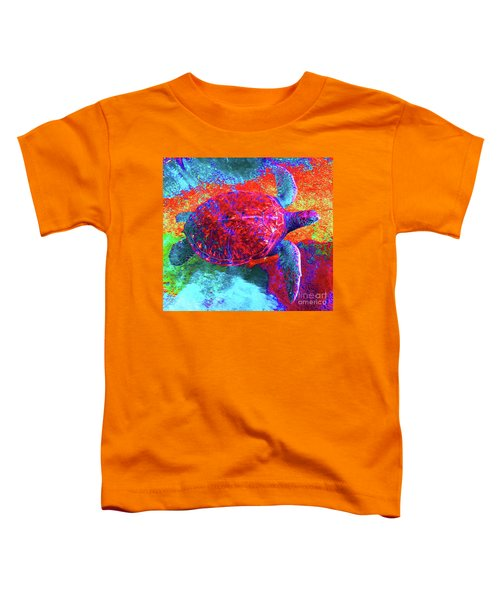 The Great Sea Turtle In Abstract Toddler T-Shirt