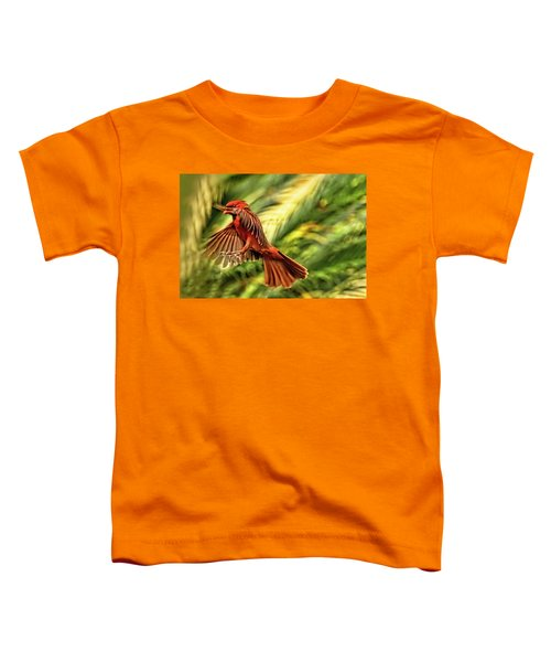 The Male Cardinal Approaches Toddler T-Shirt