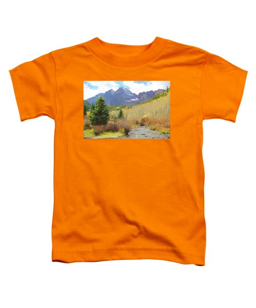 The Maroon Bells Reimagined 3 Toddler T-Shirt