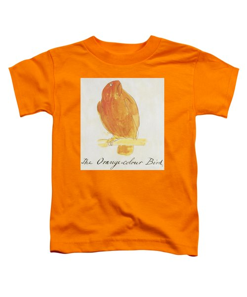 The Orange Color Bird Toddler T-Shirt