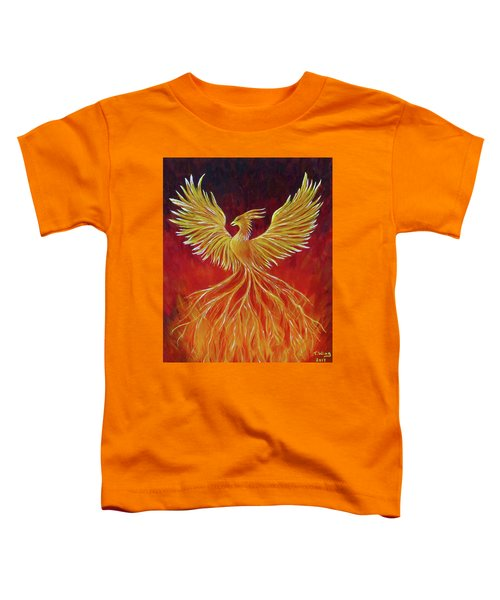 The Phoenix Toddler T-Shirt by Teresa Wing