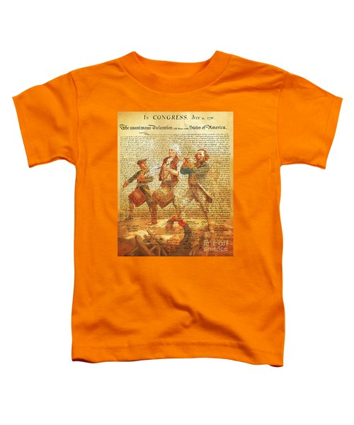 The United States Declaration Of Independence And The Spirit Of 76 20150704v2 Toddler T-Shirt