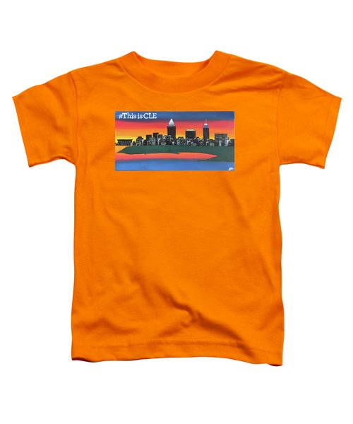 This Is Cle Toddler T-Shirt by Cyrionna The Cyerial Artist
