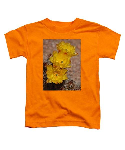 Three Yellow Cactus Flowers Toddler T-Shirt