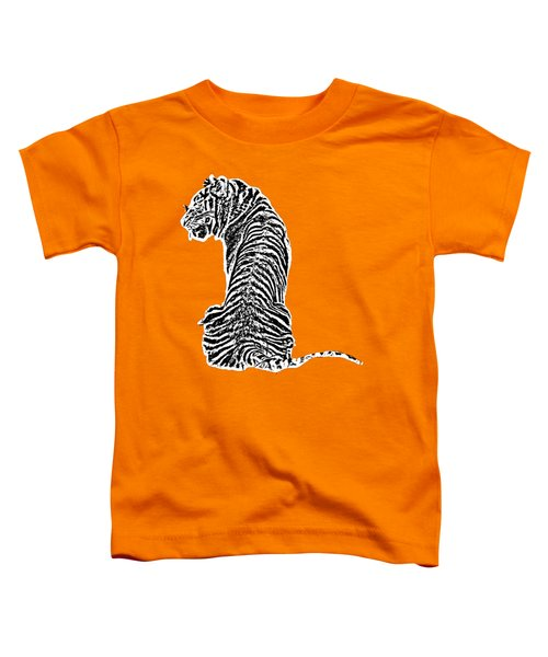 Tiger Back Art Toddler T-Shirt