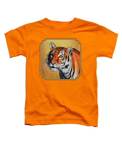 Tiger Portrait Toddler T-Shirt by Crista Forest