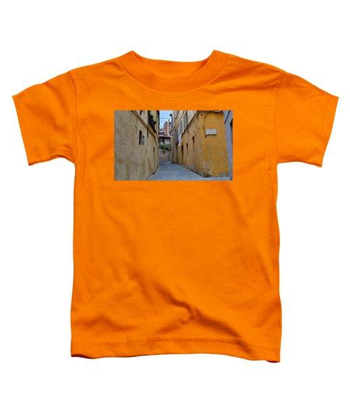 Tiny Street In Siena Toddler T-Shirt