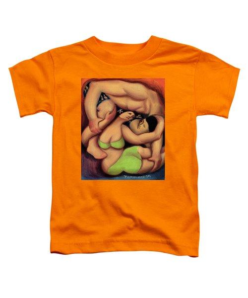 Tommervik Hawaiian Man And Hula Girl Art Print Toddler T-Shirt