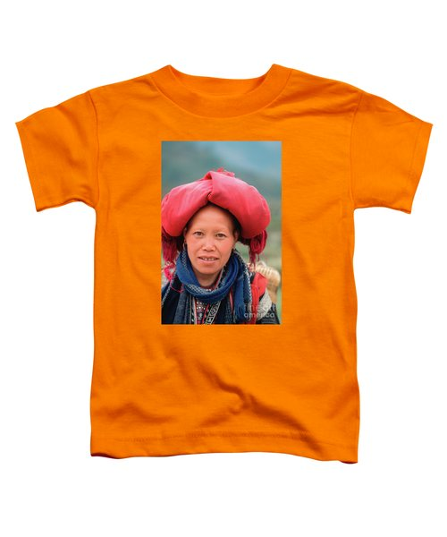 Traditional Fashion Of A Red Dzao Woman Toddler T-Shirt