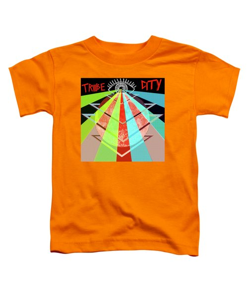 Toddler T-Shirt featuring the painting Triiibe City For Bxdizzy419 by Chief Hachibi