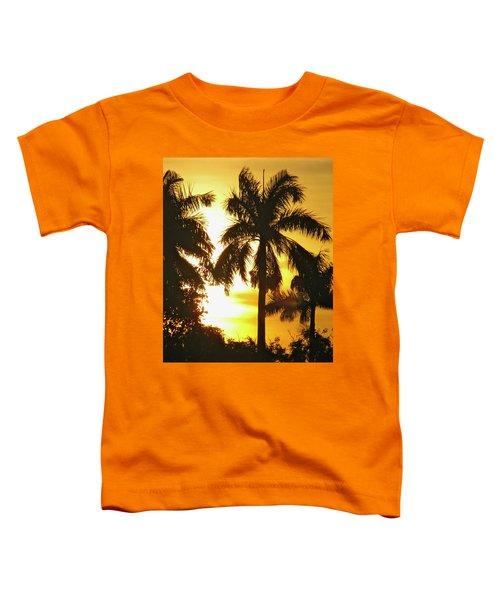 Tropical Sunset Palm Toddler T-Shirt