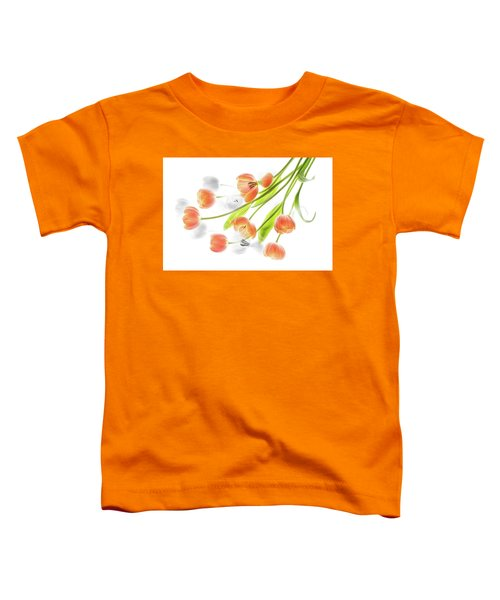 A Creative Presentation Of A Bouquet Of Tulips. Toddler T-Shirt
