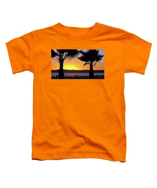Twin Palms At Sunset Toddler T-Shirt