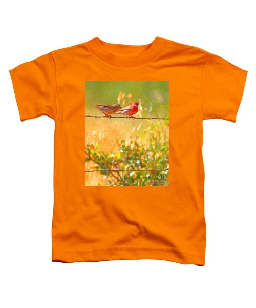 Two Birds On A Wire Toddler T-Shirt