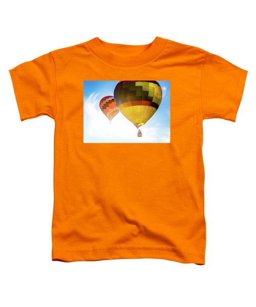 Two Hot Air Balloons Into The Sun Toddler T-Shirt