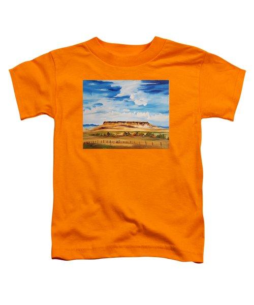Ulm Montana First People's Buffalo Jump   93 Toddler T-Shirt