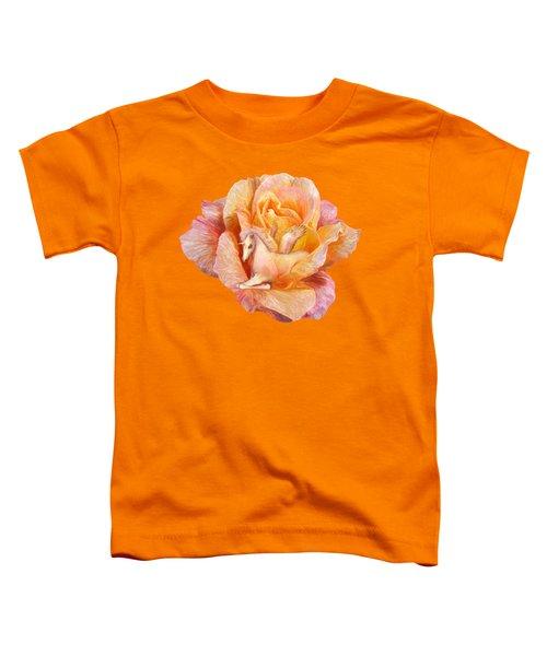 Unicorn Rose Toddler T-Shirt by Carol Cavalaris