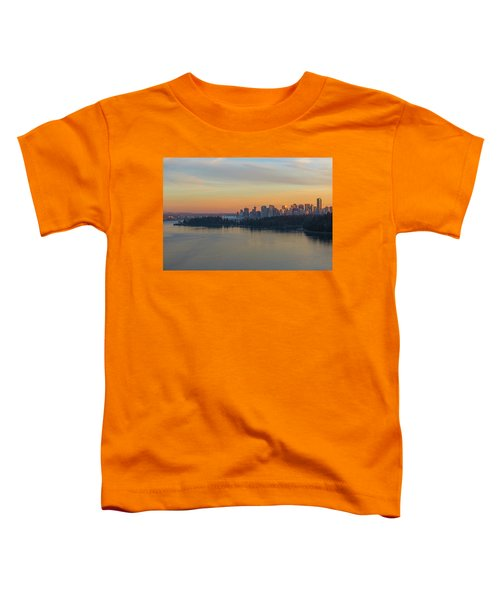 Vancouver Bc Skyline And Stanley Park At Sunset Toddler T-Shirt