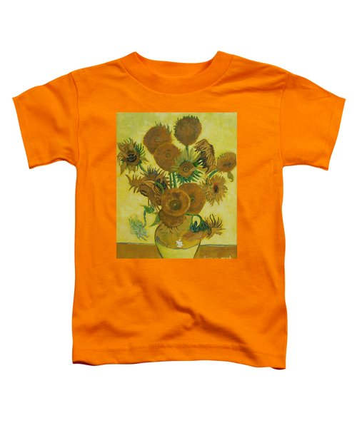 Vase Withfifteen Sunflowers Toddler T-Shirt