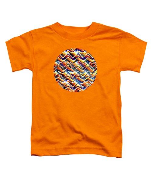 Vibrant Geometric Motif Toddler T-Shirt