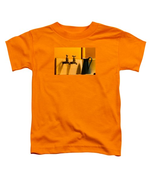 Vintage English Tap Water With Watering Can Toddler T-Shirt