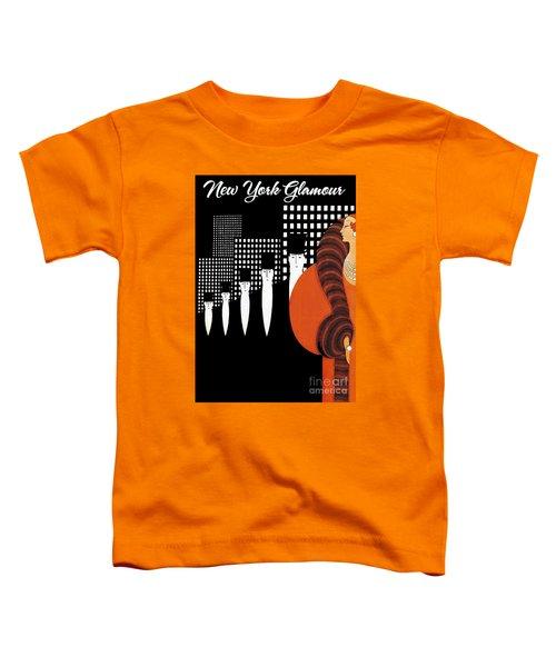 Vintage New York Glamour Art Deco Toddler T-Shirt