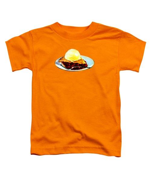 Vintage Pie A La Mode Toddler T-Shirt by Historic Image