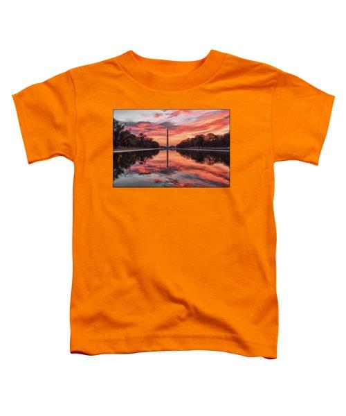 Washington Monument Sunrise Toddler T-Shirt