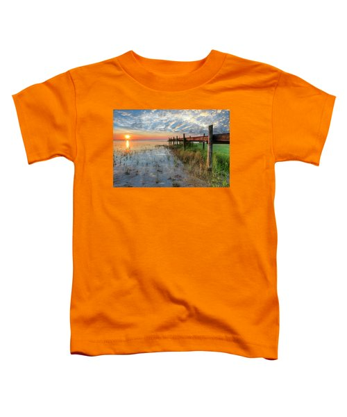 Toddler T-Shirt featuring the photograph Watching The Sun Rise by Debra and Dave Vanderlaan
