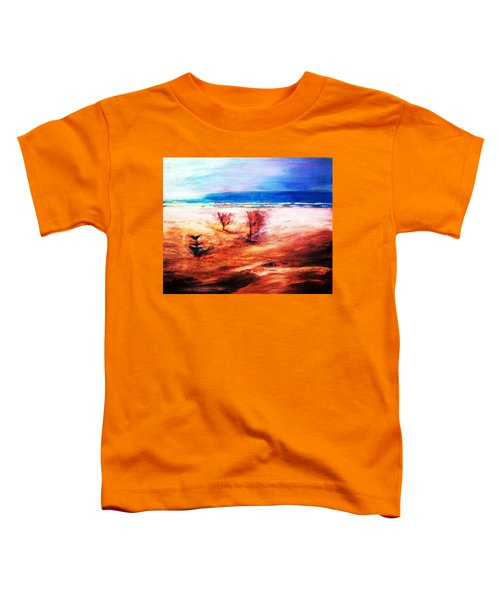 Toddler T-Shirt featuring the painting Water And Earth by Winsome Gunning