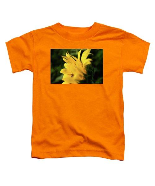 Water Drops And Sunflower Petals Toddler T-Shirt