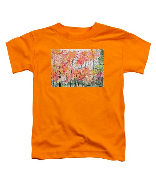 Watercolor - Autumn Forest Toddler T-Shirt