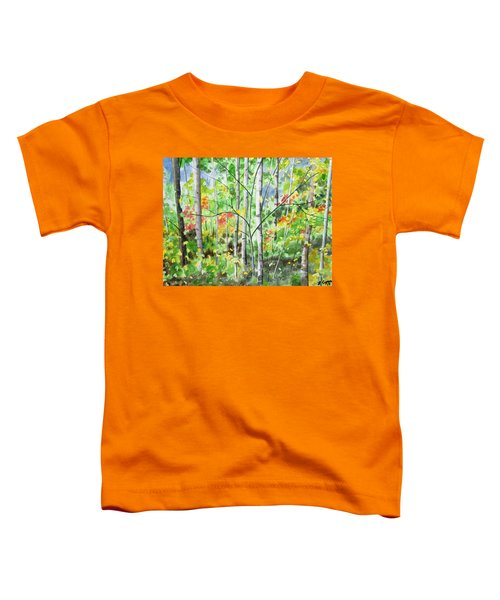 Watercolor - Northern Forest Toddler T-Shirt