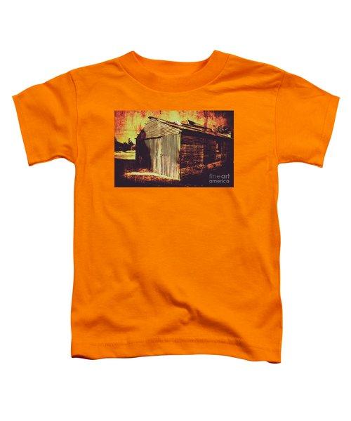 Weathered Vintage Rural Shed Toddler T-Shirt
