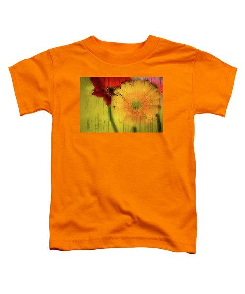 Wet Glass Flowers Toddler T-Shirt