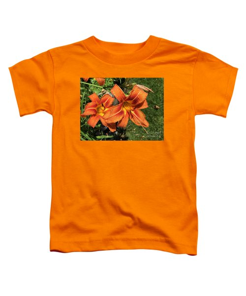 Wet Tiger Llilies Toddler T-Shirt