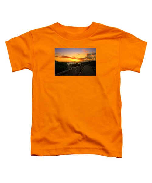 Toddler T-Shirt featuring the photograph While You Walk by Miroslava Jurcik