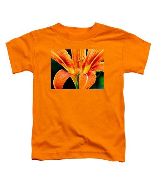Wild Tiger Lily Toddler T-Shirt