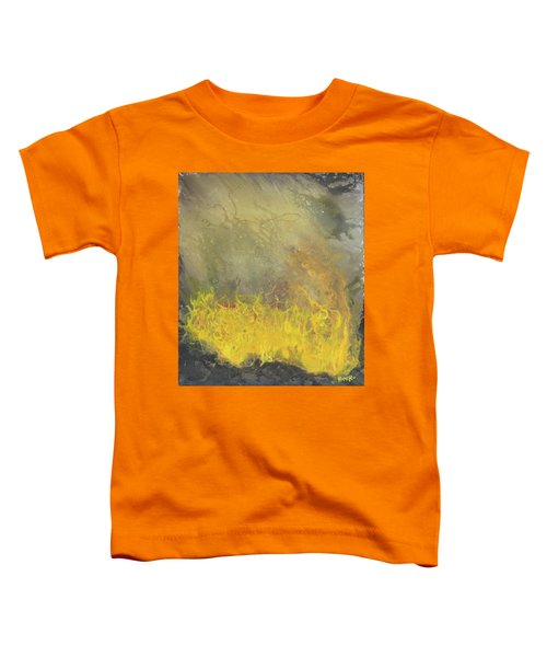 Toddler T-Shirt featuring the painting Wildfire by Antonio Romero