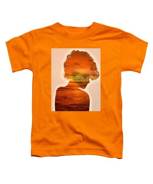 Woman And A Sunset Toddler T-Shirt
