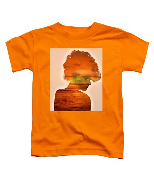 Woman And A Sunset Toddler T-Shirt