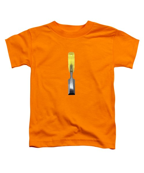 Wood Chisel W Bright Yellow Plastic Handle  Toddler T-Shirt