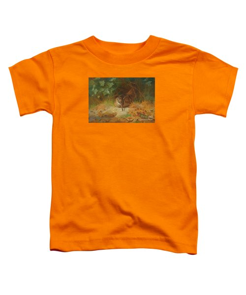 Woodcock Toddler T-Shirt by Celestial Images