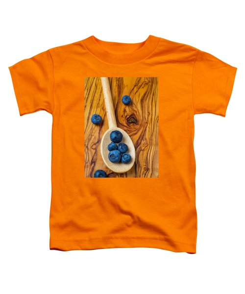 Wooden Spoon And Blueberries Toddler T-Shirt by Garry Gay