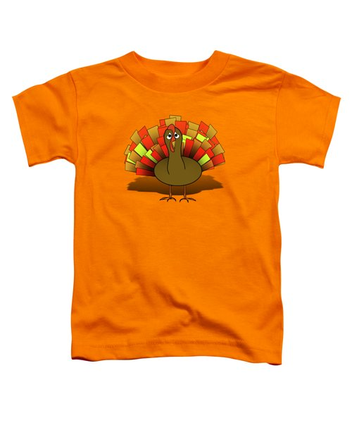 Worried Turkey Illustration Toddler T-Shirt